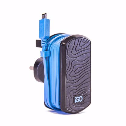Picture of Trade iGo UK Mains Charger with Micro USB Cable in Black/Blue