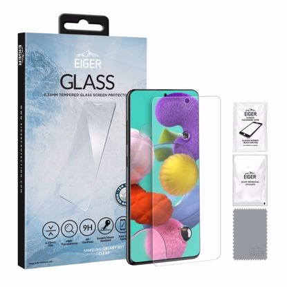 Picture of Eiger Eiger GLASS Tempered Glass Screen Protector for Samsung Galaxy A51 in Clear