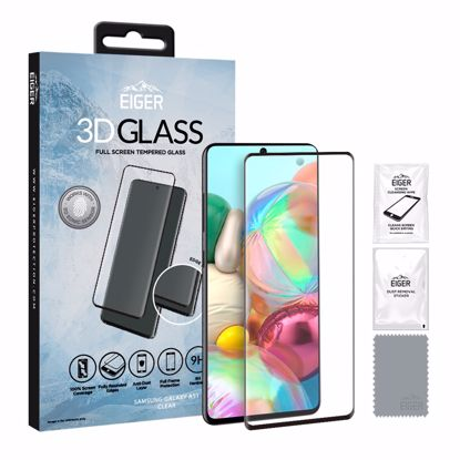 Picture of Eiger Eiger 3D GLASS Full Screen Glass Screen Protector for Samsung Galaxy A51 in Clear/Black