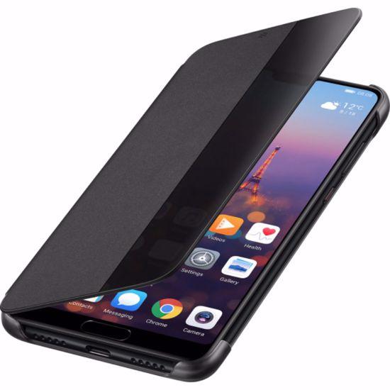Picture of Huawei Huawei Flip View Cover Case for Huawei P20 in Black