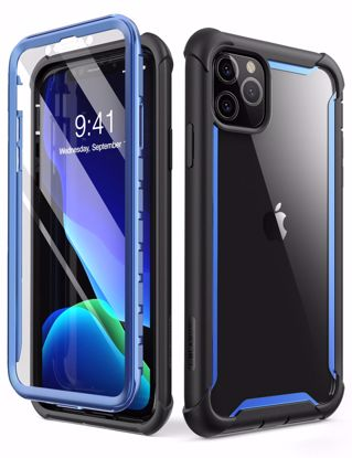 Picture of i-Blason i-Blason Ares Full Body Case with Screen Protector for iPhone 11 Pro in Blue