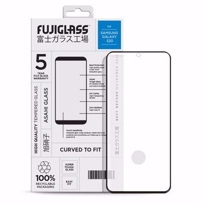Picture of Fuji Fuji Curved-to-fit Screen Protector for Samsung Galaxy S20 in Clear/Black