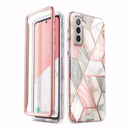 Picture of i-Blason i-Blason Cosmo Case with Screen Protector for Samsung Galaxy S21+ in Marble